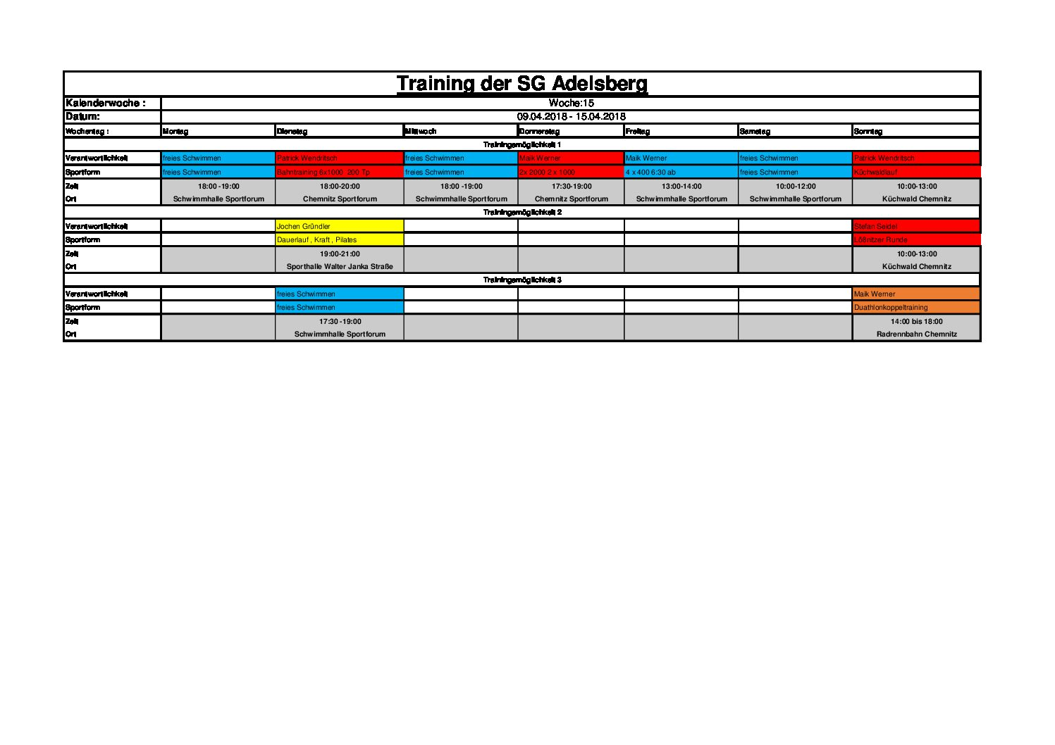 training der sg adelsberg kw 15 2018 sga x sports. Black Bedroom Furniture Sets. Home Design Ideas